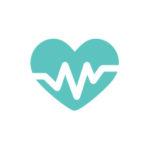 Ícone verde com fundo branco representando coração médico cardiologista na GlobalMed