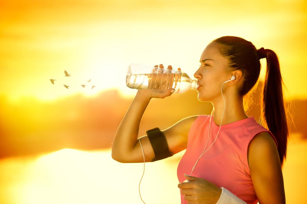 Beba bastante água!
