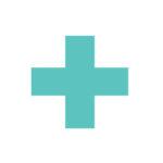 ícone verde representando cruz médica para exames de ressonância e ultrassom realizados na GlobalMed.